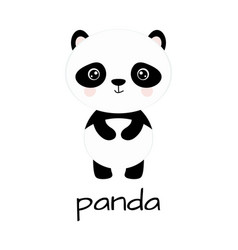 cute cartoon panda isolated on white background vector image