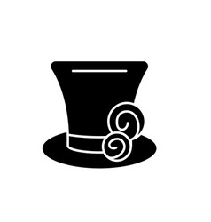 cylinder hat black icon sign on isolated vector image