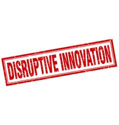 Disruptive innovation square stamp vector