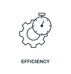 Efficiency icon outline style thin line creative vector