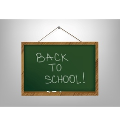 Empty school board for the writing a chalk vector