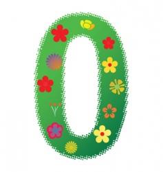 floral number 0 vector image