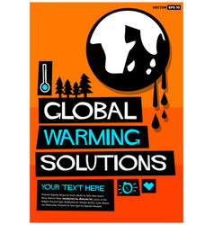 Global warming solutions vector