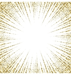 Gold glitter oncoming comic line background vector
