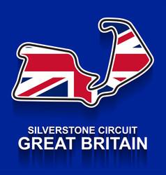 Great britain grand prix race track for formula 1 vector