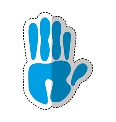 Hand human print isolated icon vector