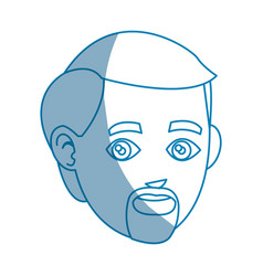head beard man character design vector image