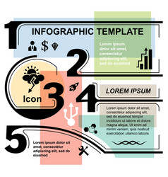 infographic template elements vector image
