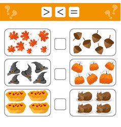 Learning mathematics numbers - choose more less vector