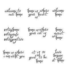 Lettering typography poster calligraphic quotes vector