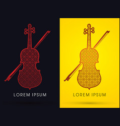 luxury violin vector image