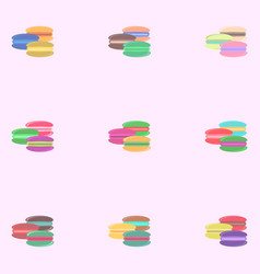 Macaroon cookies set vector