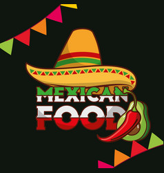 Mexican food card vector