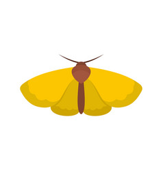 Moth icon flat style vector