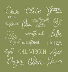 olive and white original stylish poster vector image