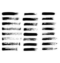 Painted grunge stripes black labels background vector