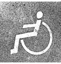 Parking places with disabled signs on asphalt vector image