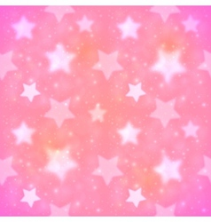 Pink blurred stars seamless pattern vector