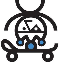 Retro Skateboarder vector image