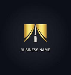 road sign logo vector image
