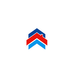 Roof house shape company logo vector