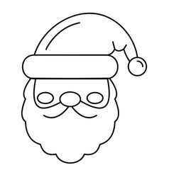 santa face icon outline style vector image
