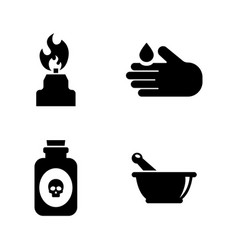science simple related icons vector image