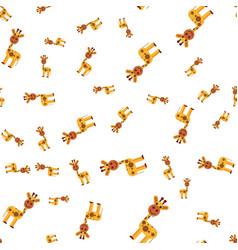 seamless pattern of giraffe vector image