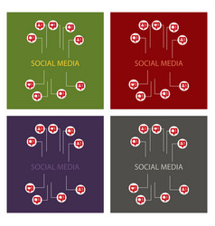 set of hand like dislike sign icon thumbs up vector image