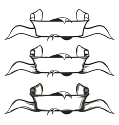 Set of old style banners - ribbons vector image