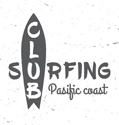 Set of Surf club concept vector
