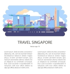 Singapore flyer city vector