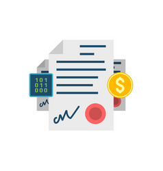 smart contract concept related icon vector image