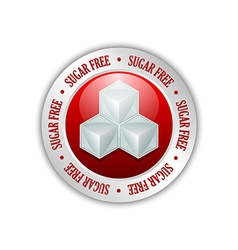 Sugar free badge vector image