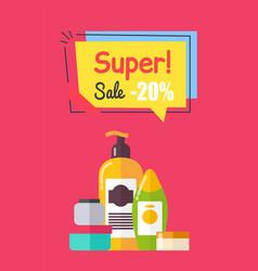 super sale -20 cosmetics set vector image