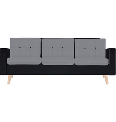 three seat sofa vector image