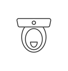 toilet concept outline icon top view vector image