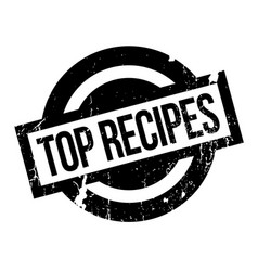 Top recipes rubber stamp vector