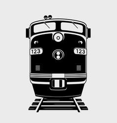 Train icon locomotive silhouette vector