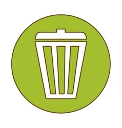 Trash can button icon image vector