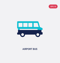two color airport bus icon from airport terminal vector image