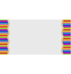 Vertical frame made of multicolored wooden vector