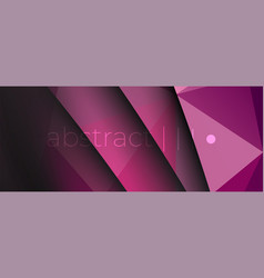 violet dark geometric triangle polygon background vector image