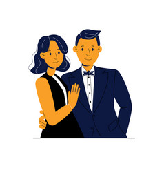 Wonderful couple young people vector