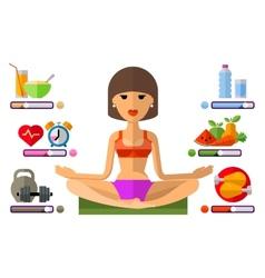 Yoga logo design template sport fitness vector