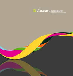 Abstract fabric rolls multicolored spiral vector image