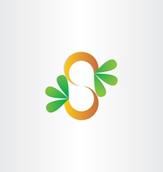 letter s plant with green leafs vector image