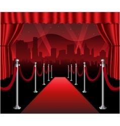Red carpet movie premiere elegant event hollywood vector image