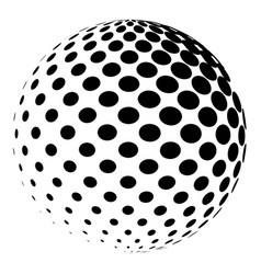 sphere with a halftone pattern dotted orb design vector image