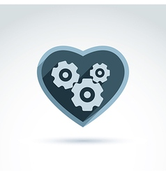 a mechanical heart Love machine icon Ge vector image vector image